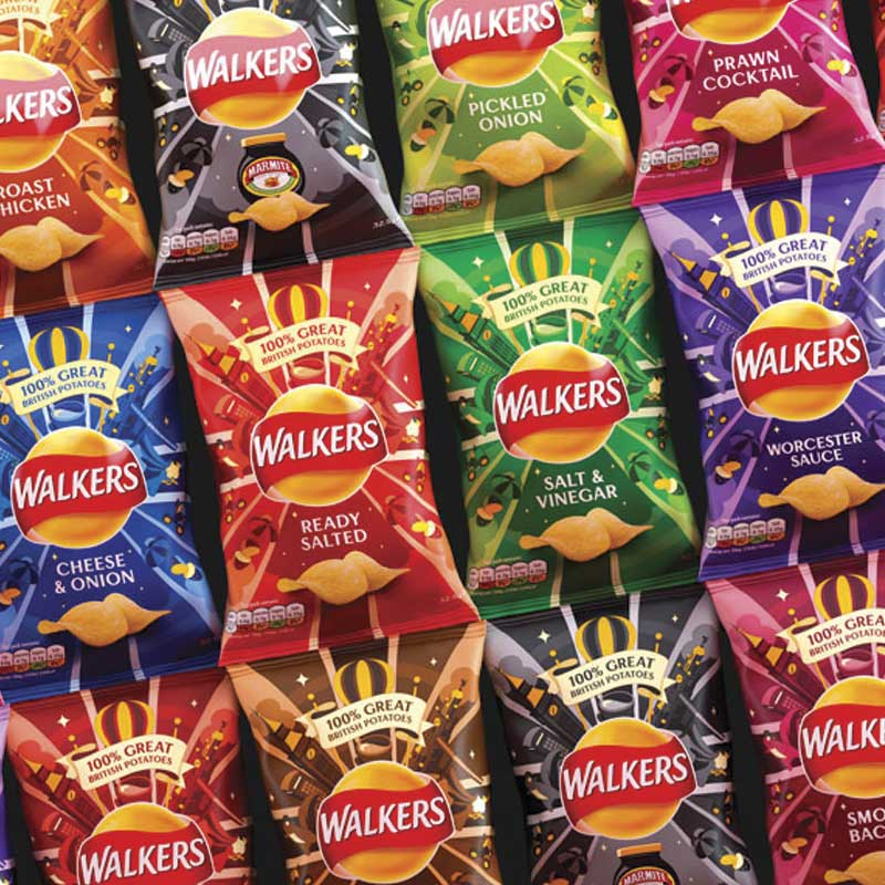 Walkers redesigns its crisp packaging